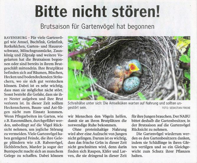 Schwäbische Zeitung 19. Mai 2021