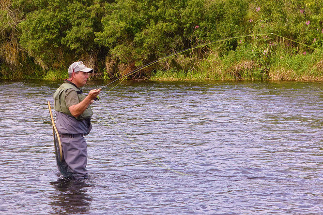 Stefan Vogt beim Fliegenfischen in der Eder (Foto: Wolfgang Lübcke)
