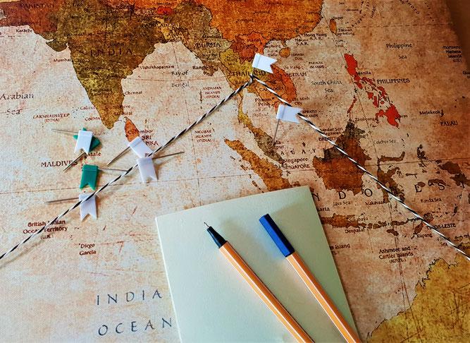 Länder für eine Weltreise