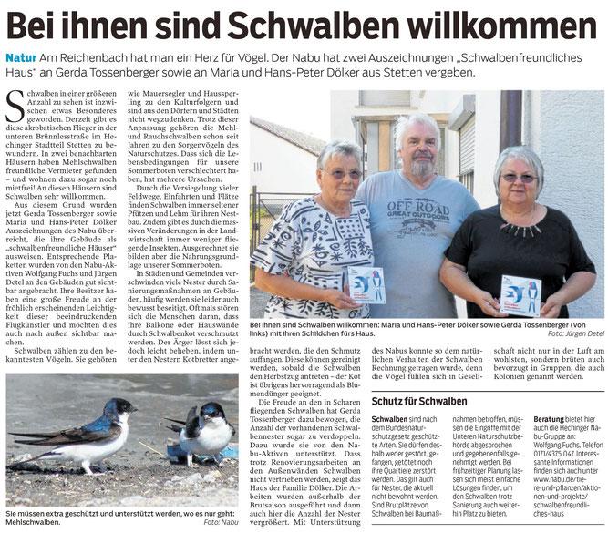Hohenzollerische Zeitung, 10.07.2019