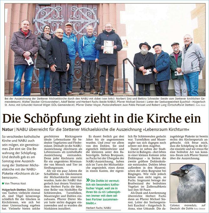 Schwarzwälder Bote, 18.11.2019