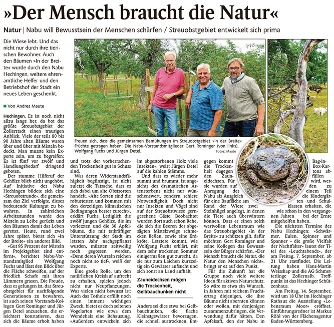Schwarzwälder Bote, 31. August 2018