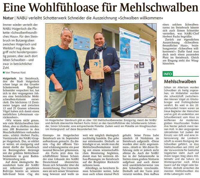 Schwarzwälder Bote Haigerloch - 30. Oktober 2018