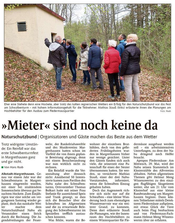 Schwarzwälder Bote, 29. April 2019