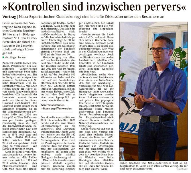 Schwarzwälder Bote, 18.05.2019