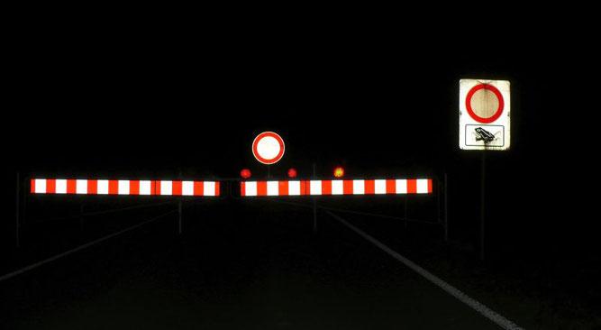 Sperrung der K 7166 Trillfingen - Wachendorf  in den Wandernächten (Foto: H. Fuchs)