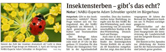 Schwarzwälder Bote, 01.04.2019