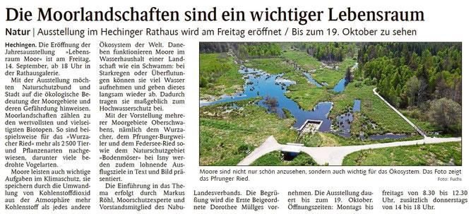Schwarzwälder Bote Hechingen, 04. September 2018