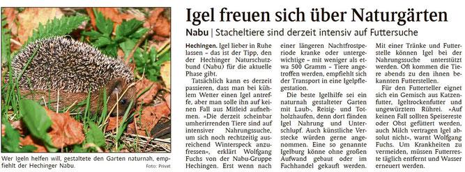 Schwarzwälder Bote, 08.11.2019