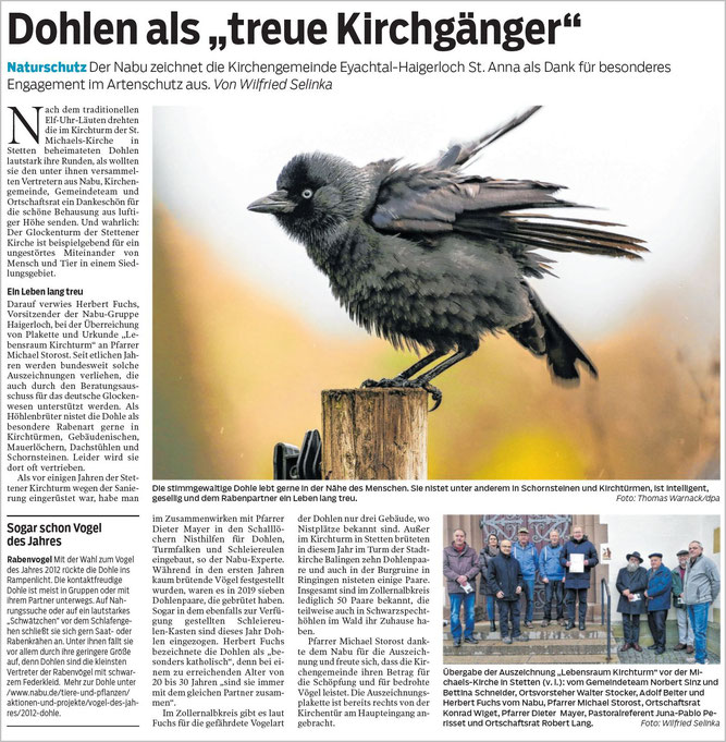 Hohenzollerische Zeitung, 18.11.2019