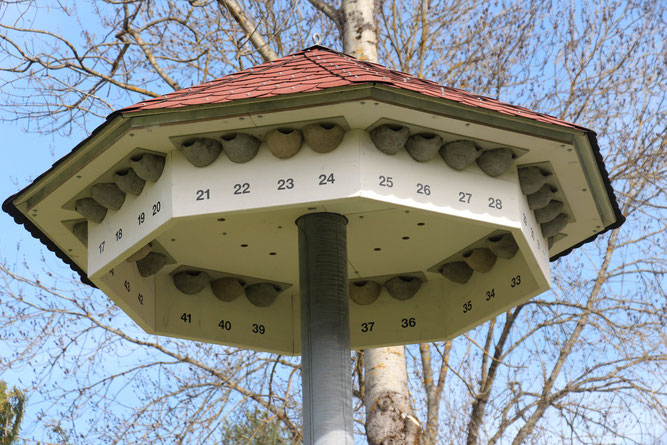Alle Nester nummeriert - das erleichtert die Erfolgskontrolle (Foto: Hans Raab)