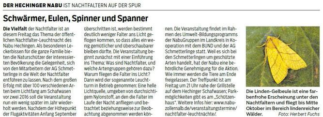 Hohenzollerische Zeitung, 05. September 2018