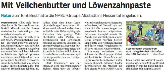 Artikel im Zollern-Alb-Kurier vom 20.10.2016