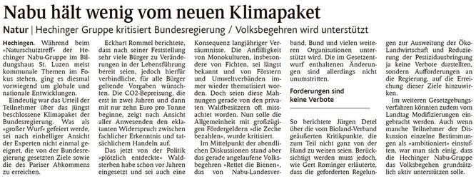 Schwarzwälder Bote, 01.10.2019