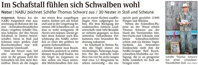 Schwarzwälder Bote Haigerloch - 02. Oktober 2014