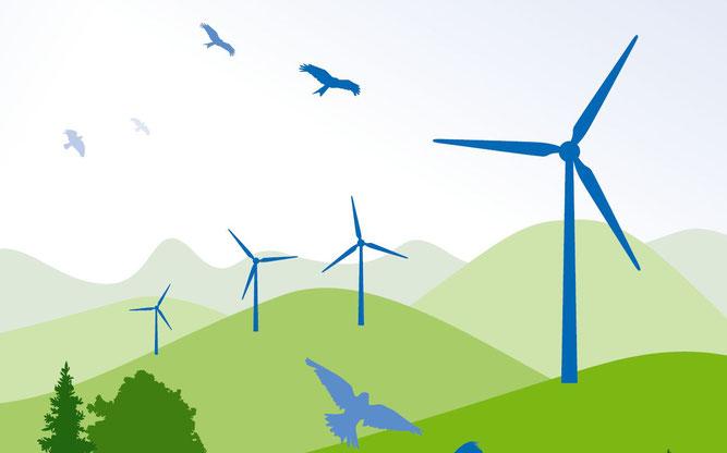 """Abbildung: """"Dialogforum Erneuerbare Energien und Naturschutz"""" von NABU und BUND"""