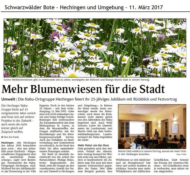 Schwarzwälder Bote vom 11. März 2017