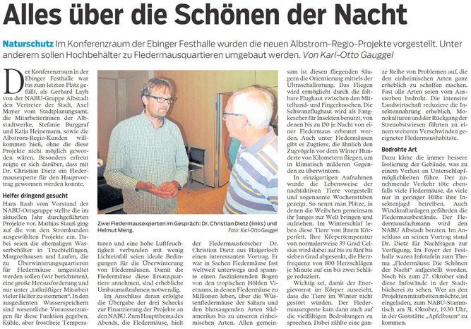 Zollern-Alb-Kurier Albstadt, 20. Oktober 2018