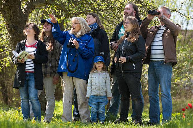 Das Interesse an der heimichen Vogelwelt war riesig. Foto: NABU/Sebastian Hennigs