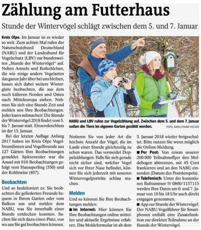 Westfalenpost, 21.12.2017