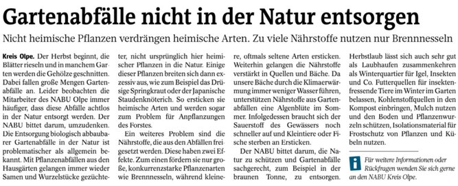 Westfalenpost 17.10.2019