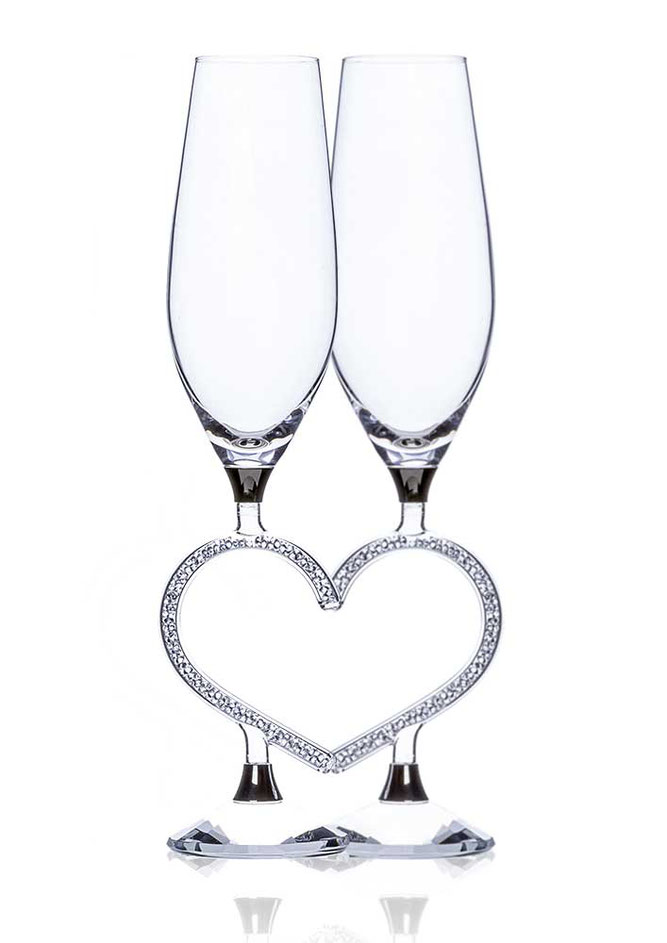 Champagne glass Afrodite Heart 190ml