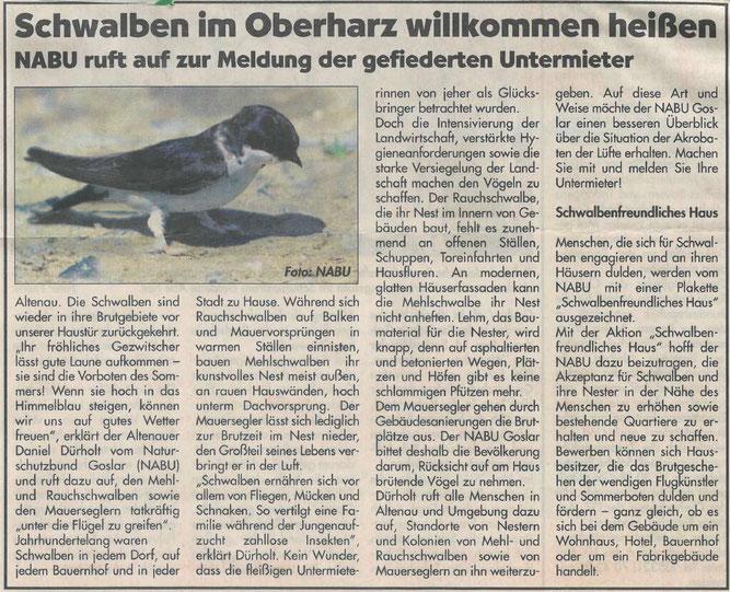 Presseartikel Harzer Panorama vom 05. Juni 2016