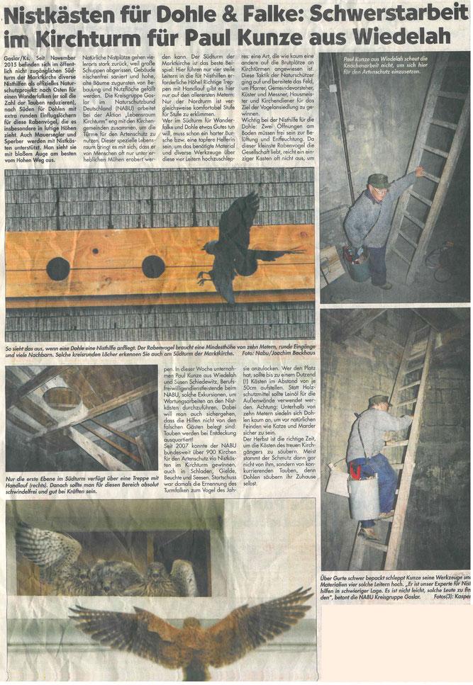 Presseartikel Harzer Panorama vom 30. Oktober 2016