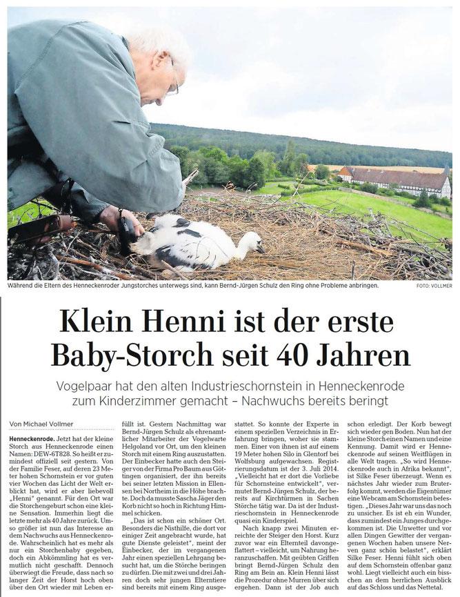 Am Bau des Horstes im Oktober 2011 waren wir auch beteiligt!