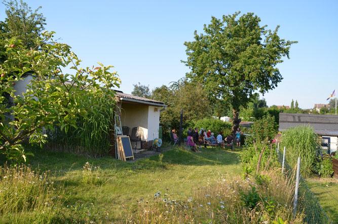 Unser Garten 118 bei einer Veranstaltung im Freien 2020! Foto: Goy