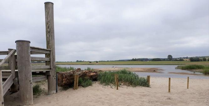 Erneuerter Dünenzaun im NSG Riedensee