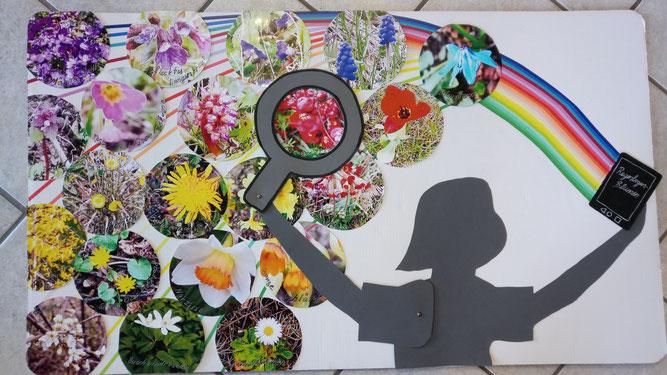 Regenbogen Blumen, Salome 10 Jahre