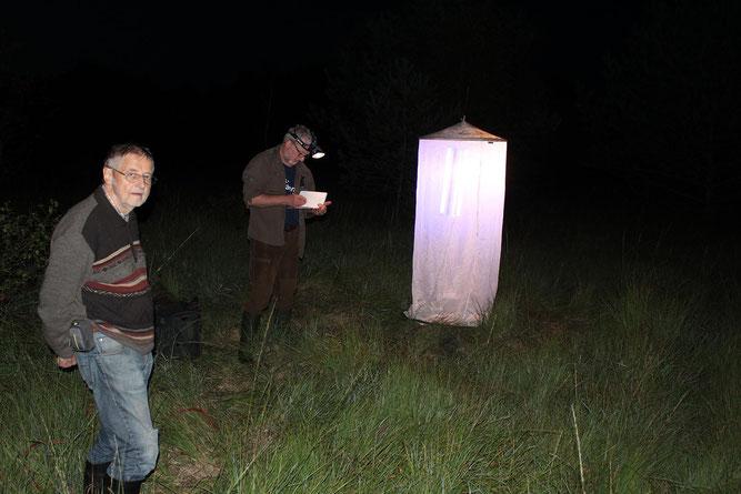 Foto: Boumann     -     Rüdiger Herrmann und Carsten Heinecke beim Nachtfang im Moor
