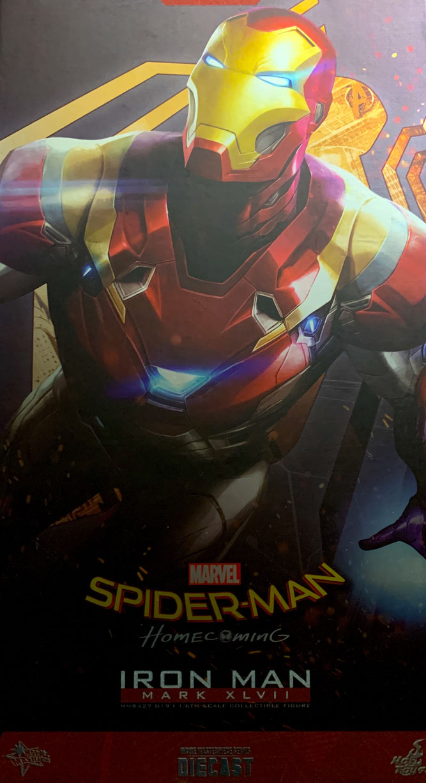 Iron Man Mark XLVII Reissue 1/6 Marvel's Spider-Man Homecoming Diecast Movie Masterpiece 32cm Actionfigur Hot Toys MMS427-D19