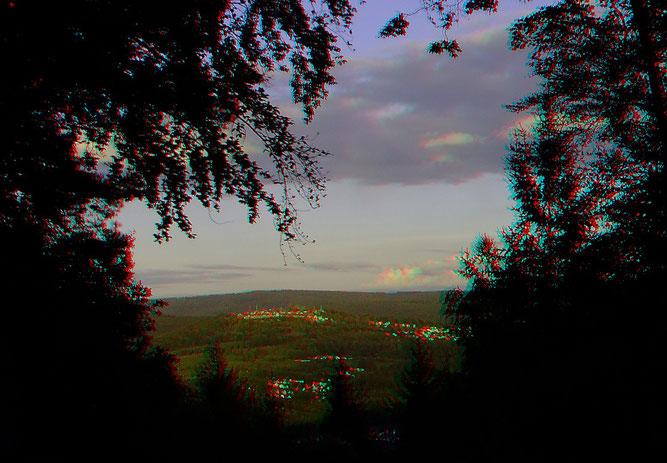 Der Dilsberg vom Neckarriedkopf