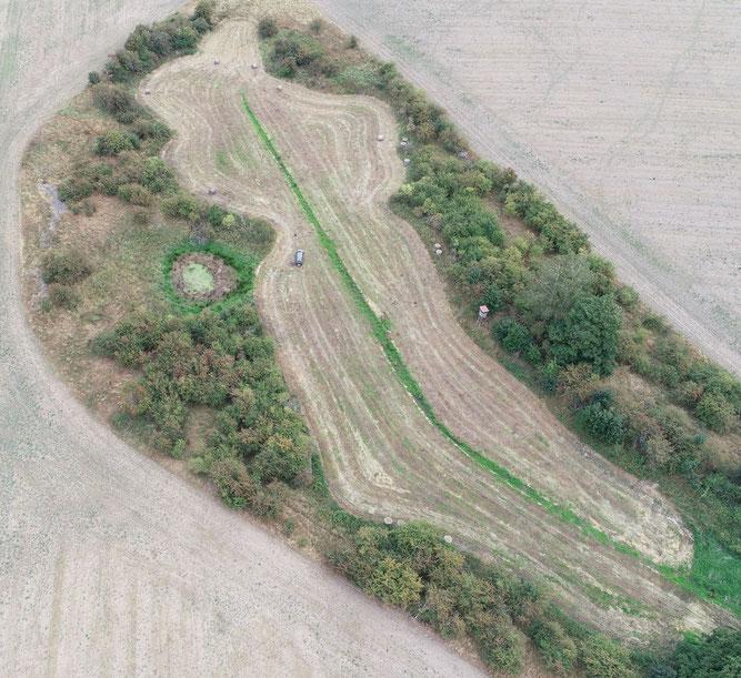 Der Nordteil des Projektgebiets vor Baubeginn, Foto: Hermann Wiesing