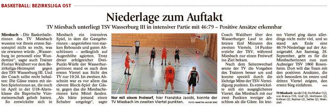 Bericht im Miesbacher Merkur am 26.9.2018 - Zum Vergrößern klicken