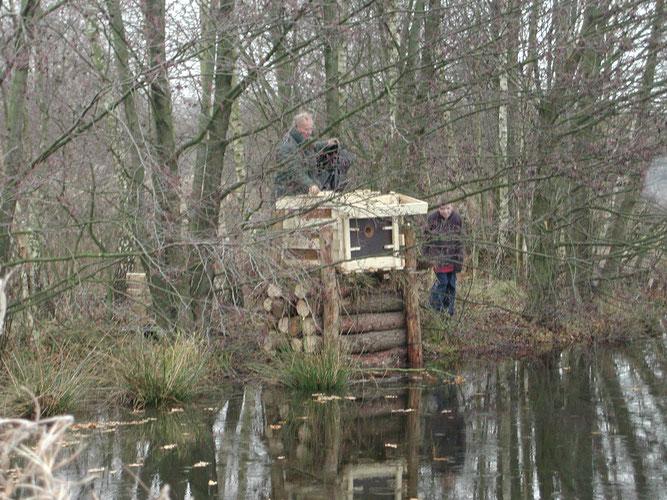 Eisvogelkasten am Sulinger Stadtsee - Foto; NABU Sulingen