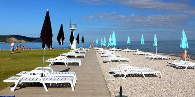Izola, spiaggia del faro