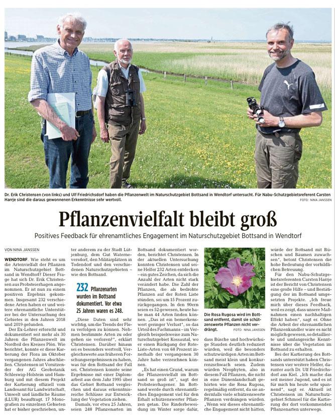 Artikel der Ostholsteiner Zeitung (Kieler Nachrichten) vom 06.06.2021