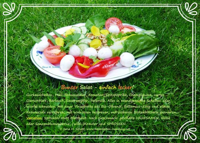 Bunter Salat, vielerlei Gemüse, Ilona M. Schütt, Basenfasten
