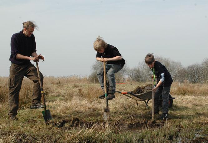 Die Junior Ranger helfen dem NABU Woldenhof.