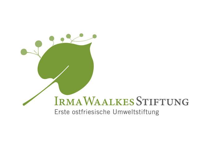 Logo der Irma Waalkes Stiftung.