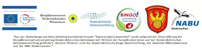 """Unterstützer des Projektes """"Naturerlebnis Bauernhof"""""""