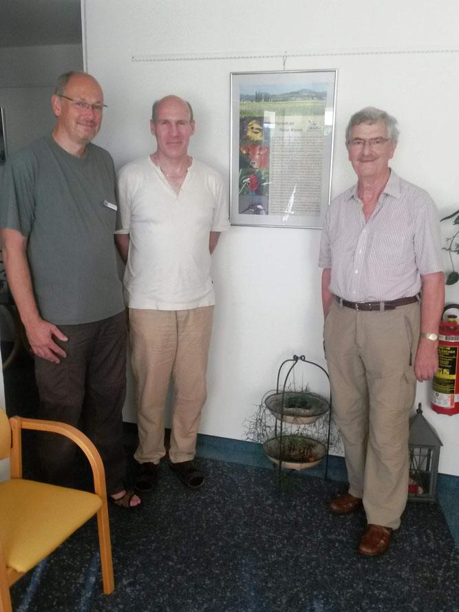 Die Therapeuten Martin Schmitt und Werner Helmes sowie, als Vertreter der Fotografen, Klaus Bittner (v.l.)