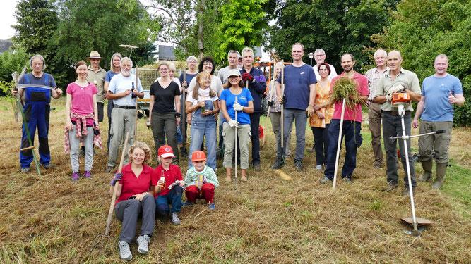 Über 25 Teilnehmer packten beim Freiwilligentag des NABU Montabaur und Umgebung mit an.