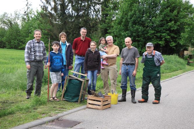 Helfer beim Abbau (Foto: B. Budig)