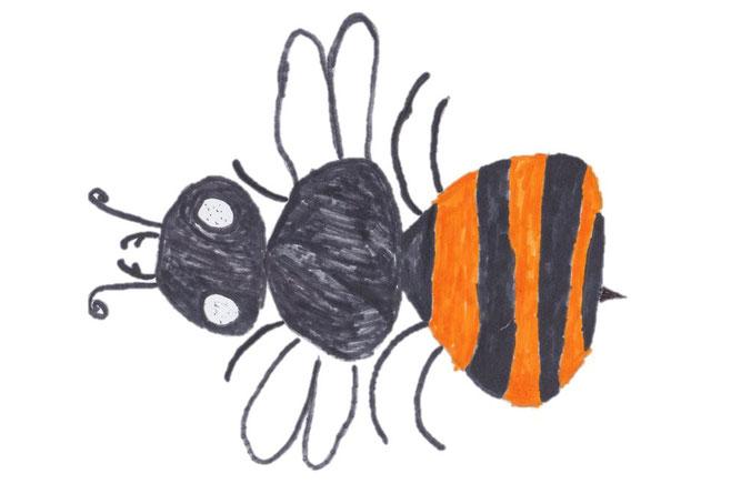 gemaltes Bienenbild