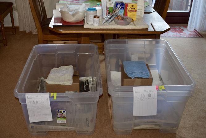 In einer stapelbaren Kunststoffbox mit Rollen (z.B. Baumarkt) lassen sich Igel sehr gut in der Wohnung halten! Foto: NABU Metzingen / Waltraud Hoyer