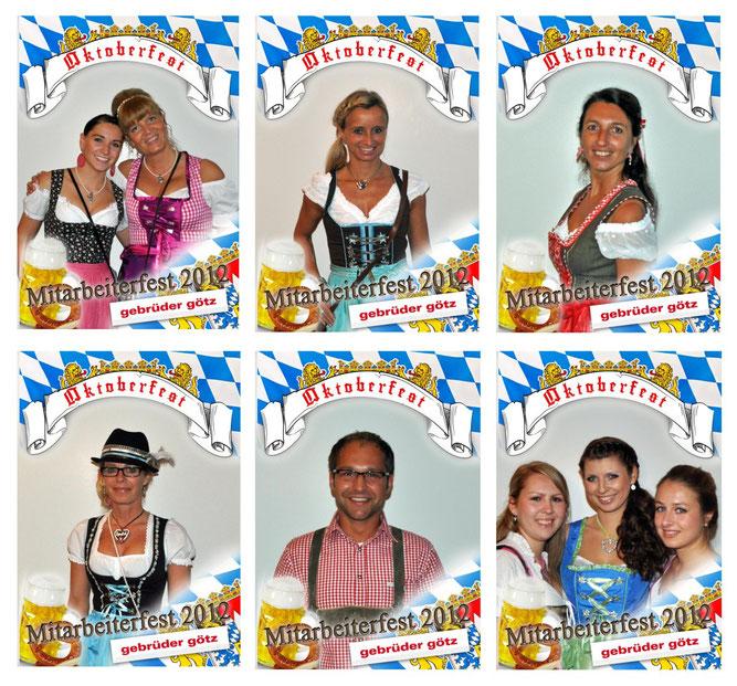 Fotoaktion beim Mitarbeiterfest/Oktoberfest Modehaus Gebrüder Götz